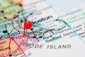Providence pinned on a map of USA — Stock Photo