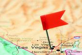 Las Vegas przypięte na mapie z Usa — Zdjęcie stockowe