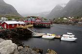 Fishing village on Lofoten Islands in Norway — Stock Photo
