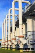 Cleaning equipment on gas compressor station — Zdjęcie stockowe