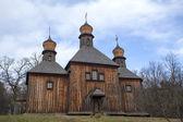 Old wooden Saint Michael's church — Stock Photo