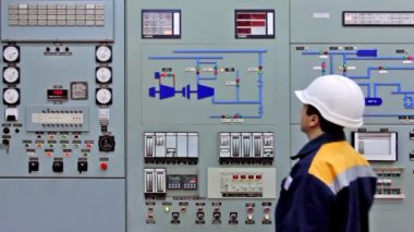 Alarms On Main Control Panel — Stok video