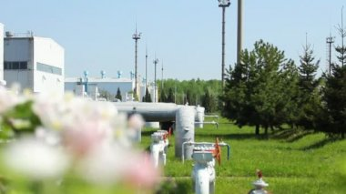 Station Turbine Focus Blossom — Stock Video