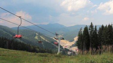 Empty Mountain Lift — Stockvideo