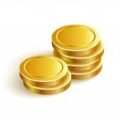 GoldCoinsVectorIconEpsPaymentTwo — Stockvector