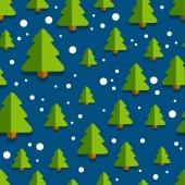 ChristmasTreePatternBackgroundBlue — Stockvektor