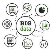 BigDataVectorIllustrationGreen — Stock Vector