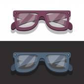 EyeGlassesVectorWhiteAndBlackBackground — Vector de stock