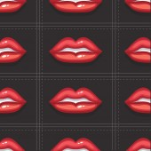 VectorPatternBackgroundRedSexyLips03 — Stockvektor
