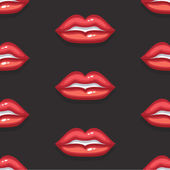 VectorPatternBackgroundRedSexyLipsBlack02 — Stockvektor