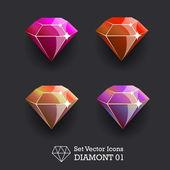 DiamondSetVector01 — Stock Vector