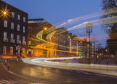 Long Exposure of Bus in Dublin — Стоковое фото