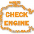 Check engine light symbol when something goes wrong with the engine. — Stock Photo #77671778