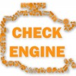 Check engine light symbol when something goes wrong with the engine. — Stock Photo #77671956