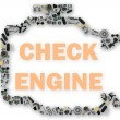 Check engine light symbol when something goes wrong with the engine. — Stock Photo #77671962