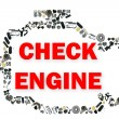 Check engine light symbol when something goes wrong with the engine. — Stock Photo #77671972