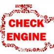Check engine light symbol when something goes wrong with the engine. — Stock Photo #77671982
