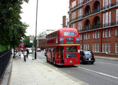 Classic routemaster double decker bus — Стоковое фото