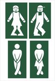 Toilet signs - vector — Vecteur