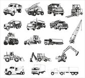 Construction vehicles - vector collection — Stock Vector