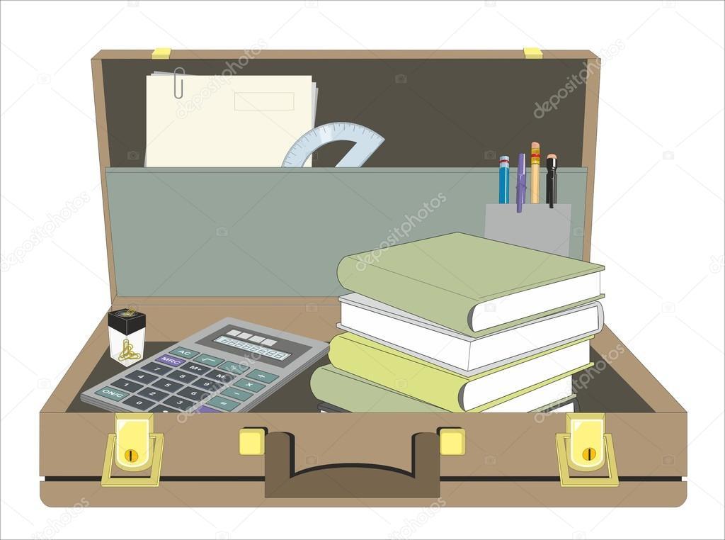 Open Briefcase Vector Stylish Open Briefcase Vector Illustration Vector by a Elmo