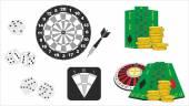 Gambling attributes — Stock Vector