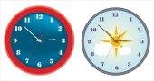 Stylish wall clocks — Stock Vector