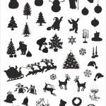 Christmas vector silhouettes — Stock Vector #56852421