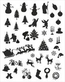 Christmas vector silhouettes — Stock Vector