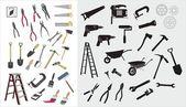 Uppsättning av olika Vektorverktygen — Stockvektor