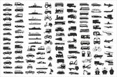 Vector collection of various vehicles — Stock Vector