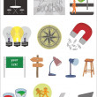Vector collection of various objects — Stock Vector #58008599