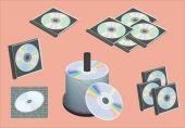 Vector cd,dvd illustration — Cтоковый вектор