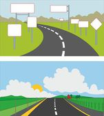 Road in the countryside — Stock Vector