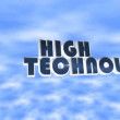 Animated high technology text on the sky — Stock Video #58350691