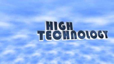 Testo animato alta tecnologia sul cielo — Video Stock