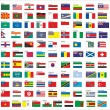 Flags of all countries in the world, part 2 — Vecteur #58393769
