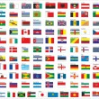 Flags of all countries in the world, part 1 — Vector de stock  #58393829