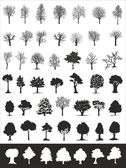 Trees, vector collection — Stock Vector