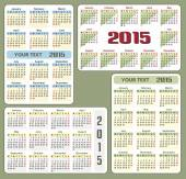 Vector calendars 2015, fully editable — Stockvector