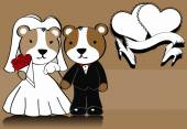 Hamster married cartoon background — Stok Vektör