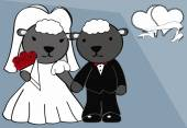 Sheep married cartoon background — Stok Vektör