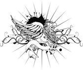 Gryphon tattoo tshirt isolated coat of arms6 — Stockvektor