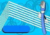 Spazzolino da denti cartoon background7 — Vettoriale Stock
