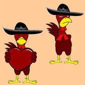 Mexican chicken mariachi set4 — Wektor stockowy