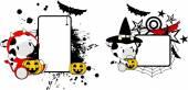 Halloween costume giraffe cartoon copyspace — Stockvektor