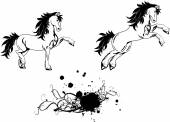Horse  tattoo set2 — Vector de stock