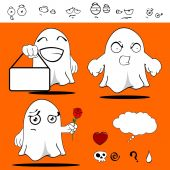 Ghost funny cartoon set11 — Vector de stock