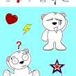 Little polar bear cartoon set5 — Vector de stock  #58832671