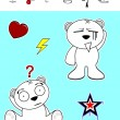 Little polar bear cartoon set5 — Vecteur #58832671